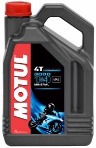 OLEJ MOTUL 3000 4T 10W40 4L JASO:MA 4T API:SG/CD MOTOCYKLOWY MINERALNY