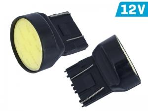 ŻARÓWKA W21/5W T20q  12V  1* COB LED CANBUS BIAŁA KPL 2 SZT.