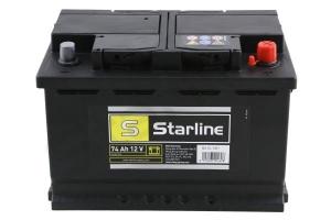 AKUMULATOR 12V 74AH/680A P+ STARLINE 278*175*190