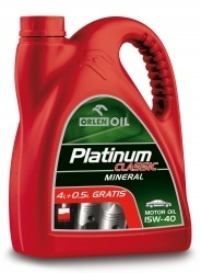 PLATINUM CLASSIC MINERAL 15W-40 4,5L