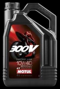 OLEJ MOTUL 300V 4T FL ROAD RACING 10W40 4L API:SG JASO:T904 MOTOCYKLOWY SYNTETYK 4L MOTUL