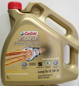CASTROL EDGE PROFESSIONAL 5W30 LONGLIFE III 4L  VW AUDI SEAT SKODA